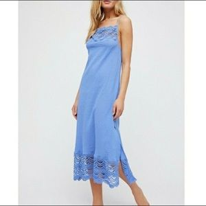 NWOT Free People Abbie Cotton Maxi Dress